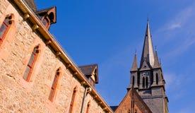 Aguja del monasterio cisterciense   Fotos de archivo libres de regalías