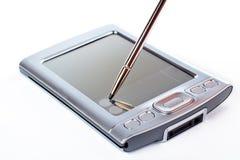 Aguja en la pantalla de PDA Fotos de archivo libres de regalías