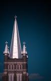 Aguja meridional de la iglesia Foto de archivo libre de regalías