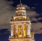 Aguja metropolitana Belces Zocalo Ciudad de México México de la catedral Imágenes de archivo libres de regalías