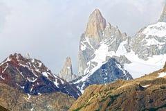 The Aguja Rafael Juarez in Patagonia, Argentina. The Aguja Rafael Juarez at the Los Glaciares National Park in Patagonia, Argentina Stock Photography