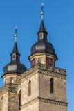 Aguja vieja de la iglesia de la ciudad de Bayreuth Fotos de archivo libres de regalías