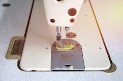 Aguja y accesorios de costura de la máquina de coser Fotos de archivo libres de regalías