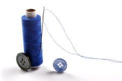 Aguja y cuerda de rosca Fotografía de archivo libre de regalías