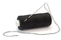 Aguja y cuerda de rosca Fotografía de archivo