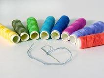Aguja y cuerda de rosca Imagen de archivo libre de regalías