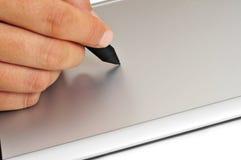 Aguja y tableta de gráficos Fotografía de archivo