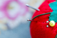 Agujas de costura Fotos de archivo libres de regalías
