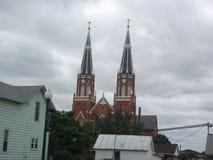 Agujas de la iglesia Fotografía de archivo libre de regalías