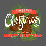 Agujas del pino de la Navidad y conos hermosos Foto de archivo
