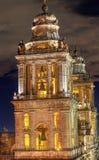Agujas metropolitanas Belces Zocalo Ciudad de México México de la catedral Fotos de archivo libres de regalías