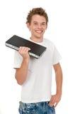 Agujerear una computadora portátil Foto de archivo