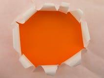 Agujero anaranjado fotos de archivo libres de regalías