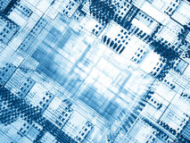 Agujero azul del cyber Imagenes de archivo