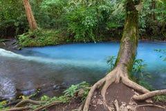 Agujero azul en Rio Celeste, Costa Rica imágenes de archivo libres de regalías