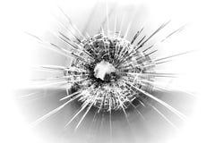 Agujero de bala Fotografía de archivo libre de regalías