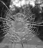 Agujero de cristal Fotografía de archivo libre de regalías