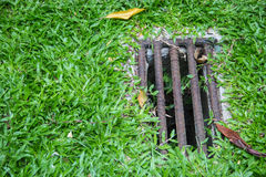 Agujero de dren Imagen de archivo libre de regalías