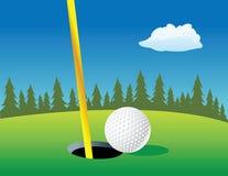 Agujero de la pelota de golf Fotografía de archivo libre de regalías
