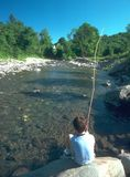 Agujero de la pesca Foto de archivo libre de regalías