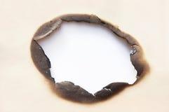 Agujero de la quemadura fotos de archivo