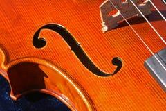 Agujero de la viola f Imagenes de archivo