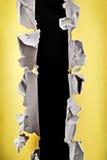 Agujero de papel. Fotos de archivo libres de regalías