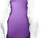 Agujero de papel púrpura. Imagenes de archivo