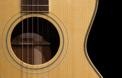 Agujero de sonidos de la guitarra Fotografía de archivo libre de regalías