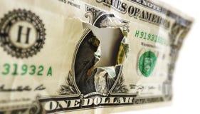 Agujero del dólar Foto de archivo libre de regalías