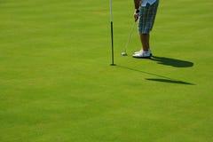 Agujero del golf Fotografía de archivo