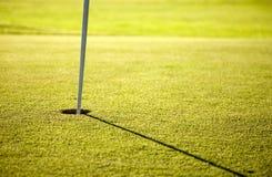 Agujero del golf Imágenes de archivo libres de regalías