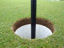 Agujero del golf Fotos de archivo libres de regalías