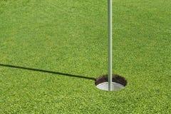 Agujero del golf Imagen de archivo libre de regalías