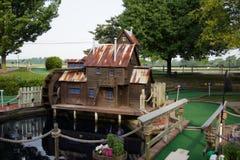 Agujero del golf miniatura Foto de archivo libre de regalías