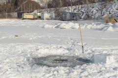 Agujero del hielo Imagenes de archivo