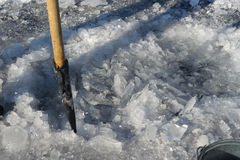 Agujero del hielo Imágenes de archivo libres de regalías