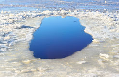 Agujero del hielo Fotos de archivo