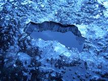 Agujero del hielo Foto de archivo