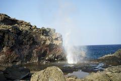 Agujero del soplo de Maui Imagenes de archivo