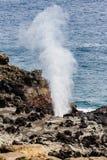 Agujero del soplo en Maui Fotos de archivo libres de regalías
