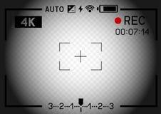 agujero del visor de la cámara de vídeo 4K Foto de archivo