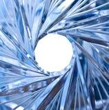 Agujero en cristal foto de archivo