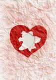 Agujero en el corazón. Fotos de archivo
