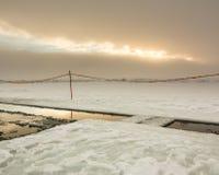 Agujero en hielo Imagen de archivo libre de regalías