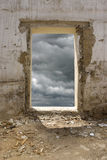 Agujero en la pared Foto de archivo