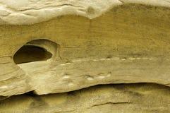 Agujero en la roca Imagenes de archivo