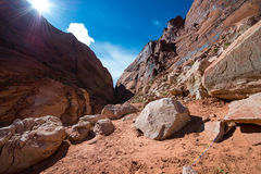 Agujero en la roca Glen Canyon Utah foto de archivo
