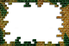 Agujero en una pared de ladrillo Imagen de archivo libre de regalías
