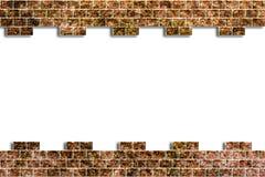 Agujero en una pared de ladrillo Foto de archivo libre de regalías